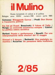 Copertina del fascicolo dell'articolo Una nostalgia romantica