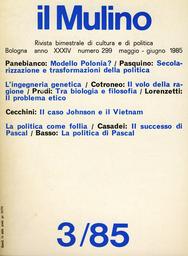 Copertina del fascicolo dell'articolo Il volo della ragione
