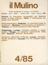 Copertina del fascicolo dell'articolo L'ermeneutica di Gadamer