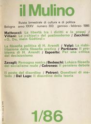 Copertina del fascicolo dell'articolo Questioni di metodo