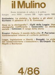 Copertina del fascicolo dell'articolo Il rango della storia