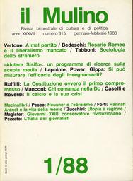 Copertina del fascicolo dell'articolo Chi comanda nella Dc. La leadership democristiana: un modello di poliarchia imperfetta