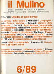 Copertina del fascicolo dell'articolo Liturgie della laicità