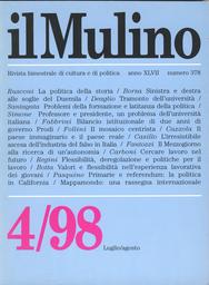 Copertina del fascicolo dell'articolo Due anni di governo Prodi. Un primo bilancio istituzionale