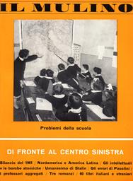 Copertina del fascicolo dell'articolo Il centro sinistra, i democristiani e la Chiesa