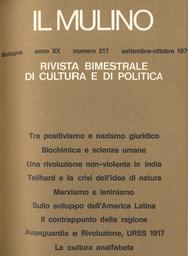 Copertina del fascicolo dell'articolo Una
