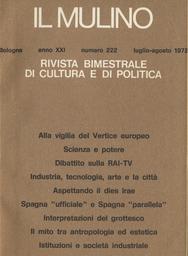 Copertina del fascicolo dell'articolo Industria, tecnologia, arte e la città