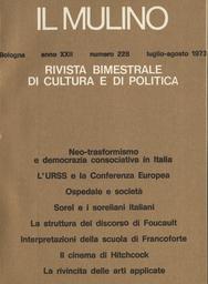 Copertina del fascicolo dell'articolo Michael Foucault: archeologia o dossologia?