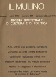 Copertina del fascicolo dell'articolo A proposito della ricerca socio-religiosa: note su un convegno italo-francese