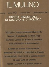 Copertina del fascicolo dell'articolo La politica estera americana nei confronti della sinistra italiana, 1945-1976