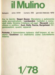 Copertina del fascicolo dell'articolo La tradizione marxista e l'autonomia della