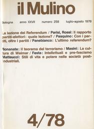 Copertina del fascicolo dell'articolo Politica, cultura, ideologia nelle riviste dell'Italia pre-fascista