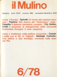 Copertina del fascicolo dell'articolo Il sistema industriale spagnolo ed il processo di allargamento della Comunità Economica Europea