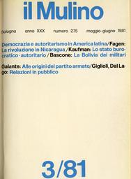 Copertina del fascicolo dell'articolo La rivoluzione in Nicaragua
