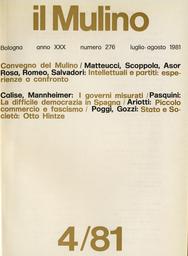 Copertina del fascicolo dell'articolo Lo stato tra sociologia e storia